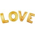 """""""LOVE"""" - a golden foil inscription"""